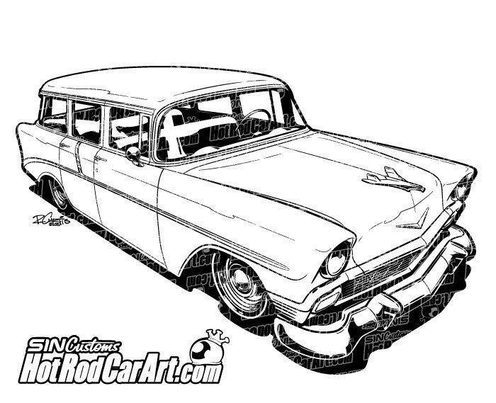 1956 Chevrolet Nomad Classic Car.