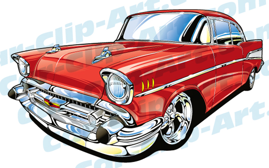 1957 Chevy Vector Clip Art — Car.