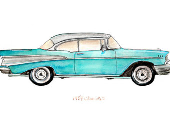 1957 Chevy Clipart.