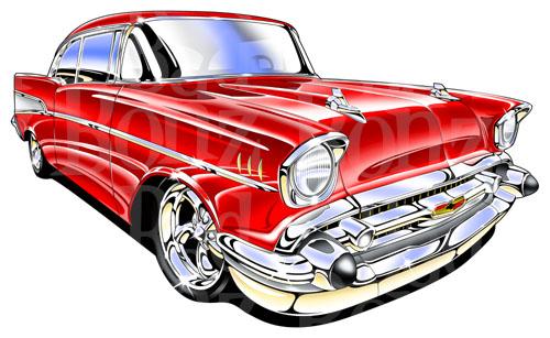 1957 chevy bel air clip art.