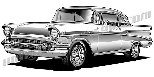 1957 chevy bel air clipart, buy two images, get one image free.