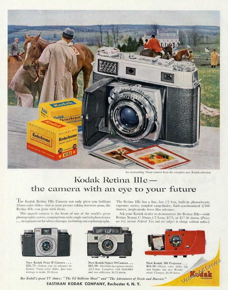 1958 Kodak Retina Iiic the Camera With An Eye To Your Future.