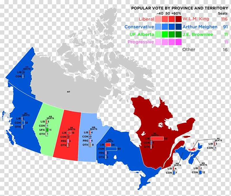 Canada Map Canadian federal election, 1958, Canada.