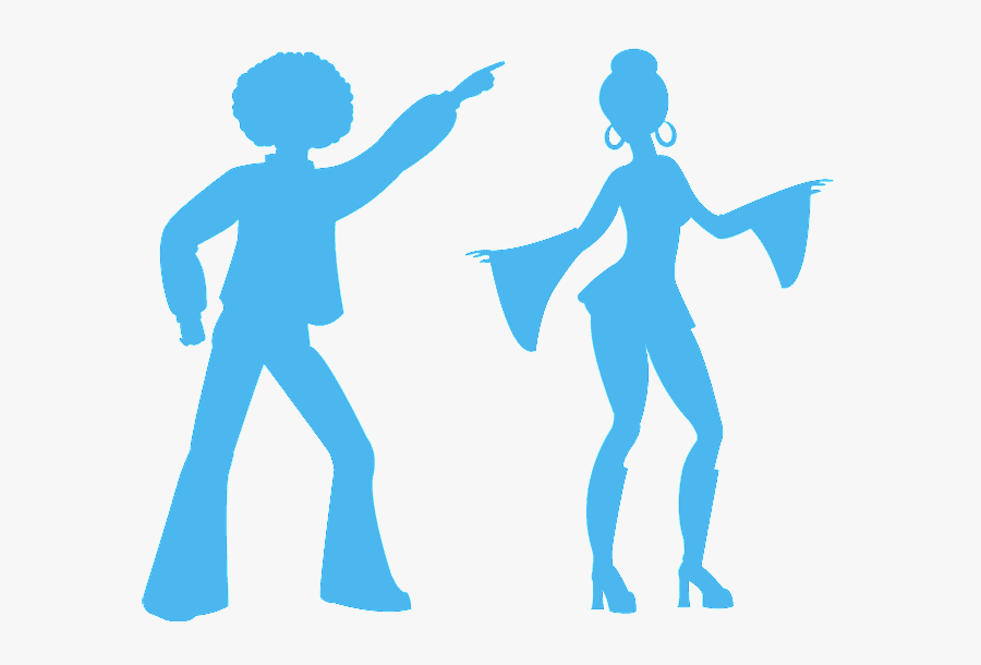 Baile Disco Silueta , Free Transparent Clipart.