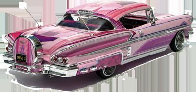 Free 1958 Impala lowrider PSD Vector Graphic.