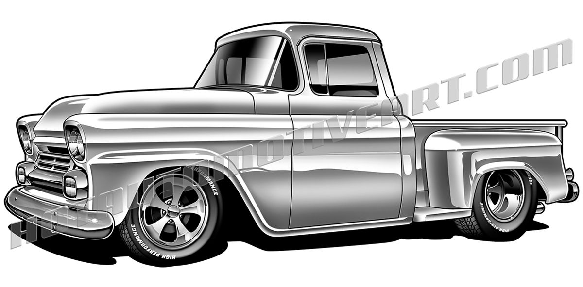 1958 Chevy pickup truck.