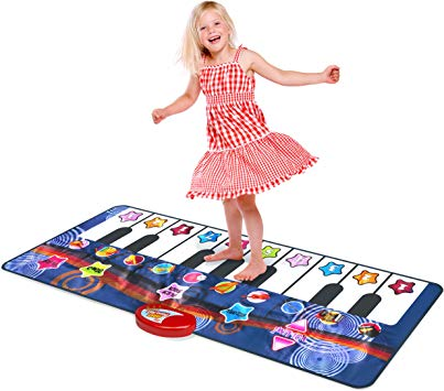 Kidzlane Durable Piano Mat, 10 Selectable Sounds, Play and Record, for Kids  2 to 5, Dance and Learn.