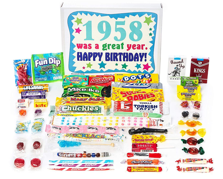 Amazon.com : Woodstock Candy ~ 1958 61st Birthday Gift Box Vintage.