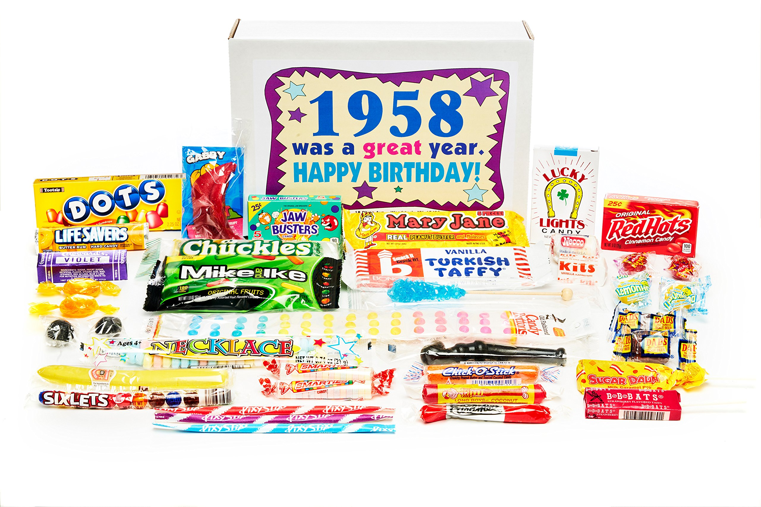 Amazon.com : Woodstock Candy ~ 1958 61st Birthday Gift Box Nostalgic.