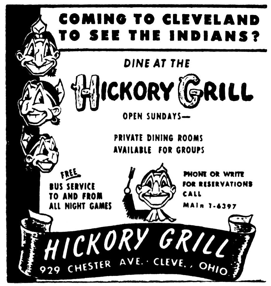 Brady's Bunch of Lorain County Nostalgia: Cleveland Indians Hickory.