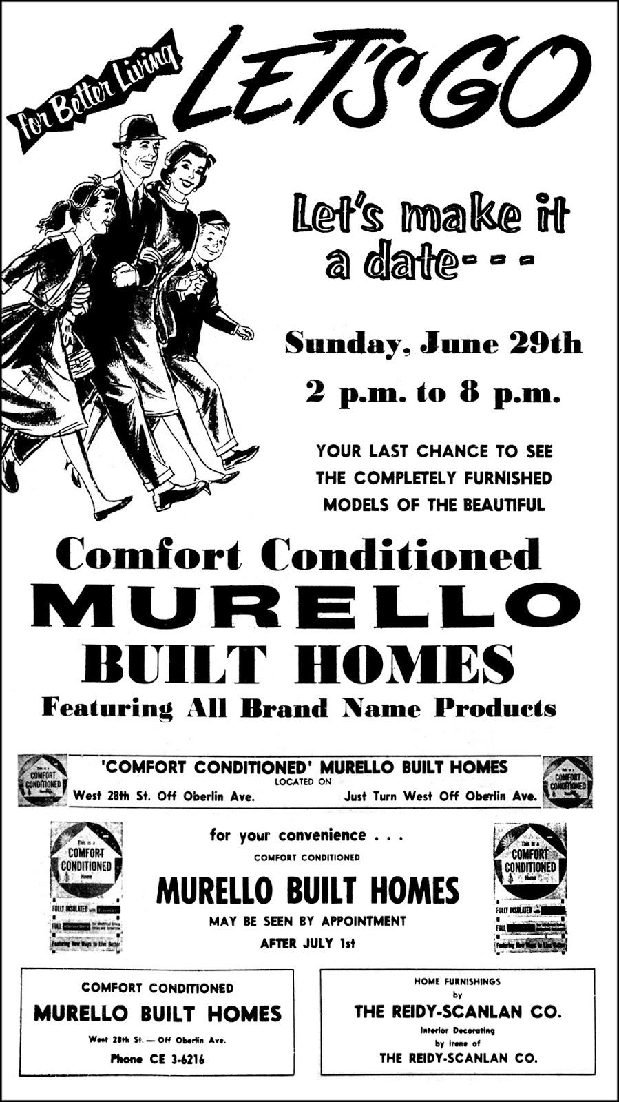 Brady's Bunch of Lorain County Nostalgia: Murello Built Homes Ad.