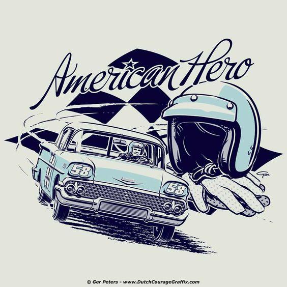 Nostalgic Stock Car Racer.
