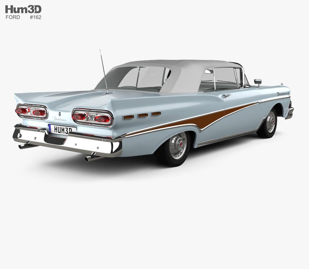 Ford Fairlane 500 Sunliner 1958 3D model.