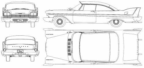 Plymouth Fury Sport (1958).