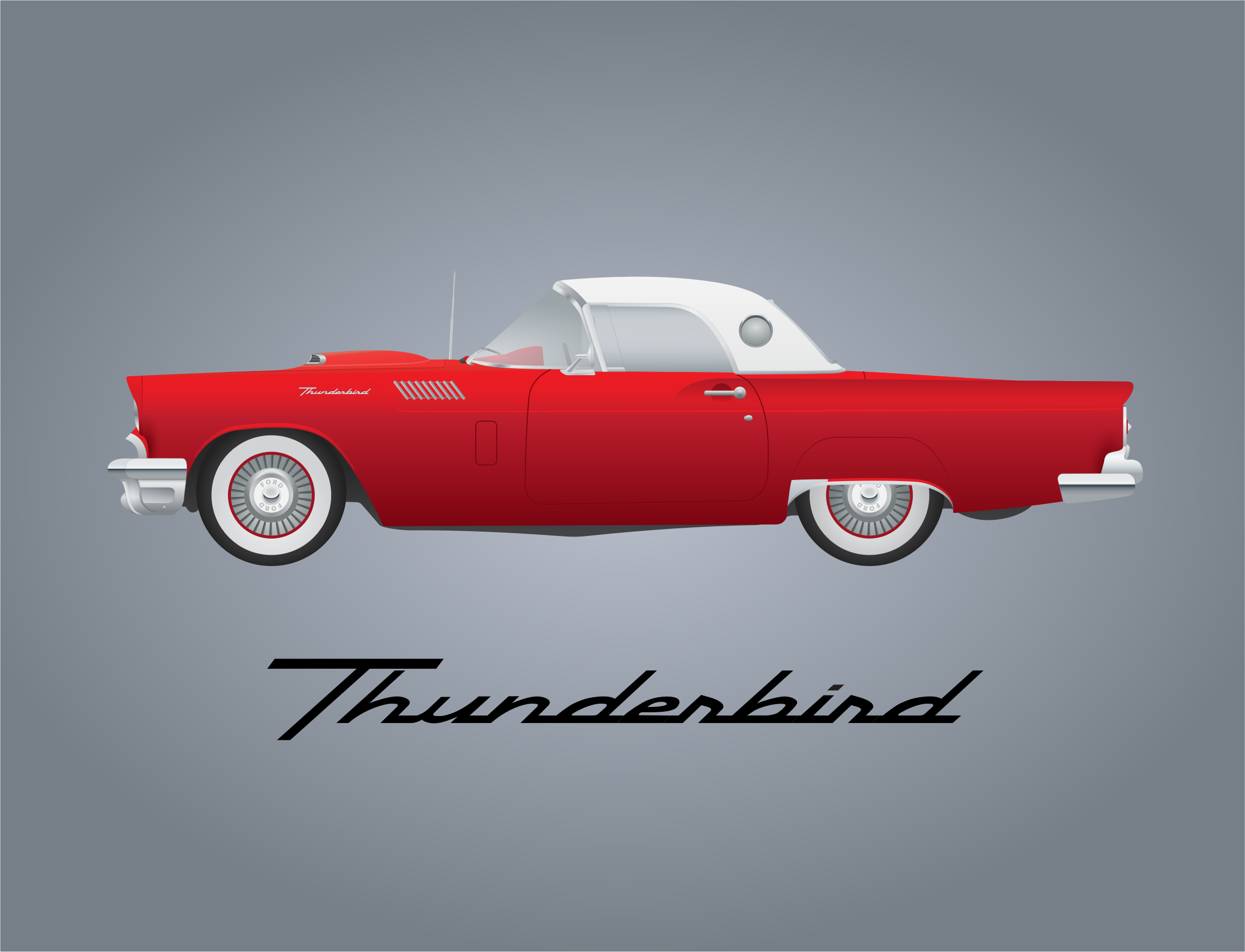 Ford thunderbird clipart images gallery for Free Download.