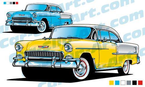 1955 Chevy Bel Air Vector Art.