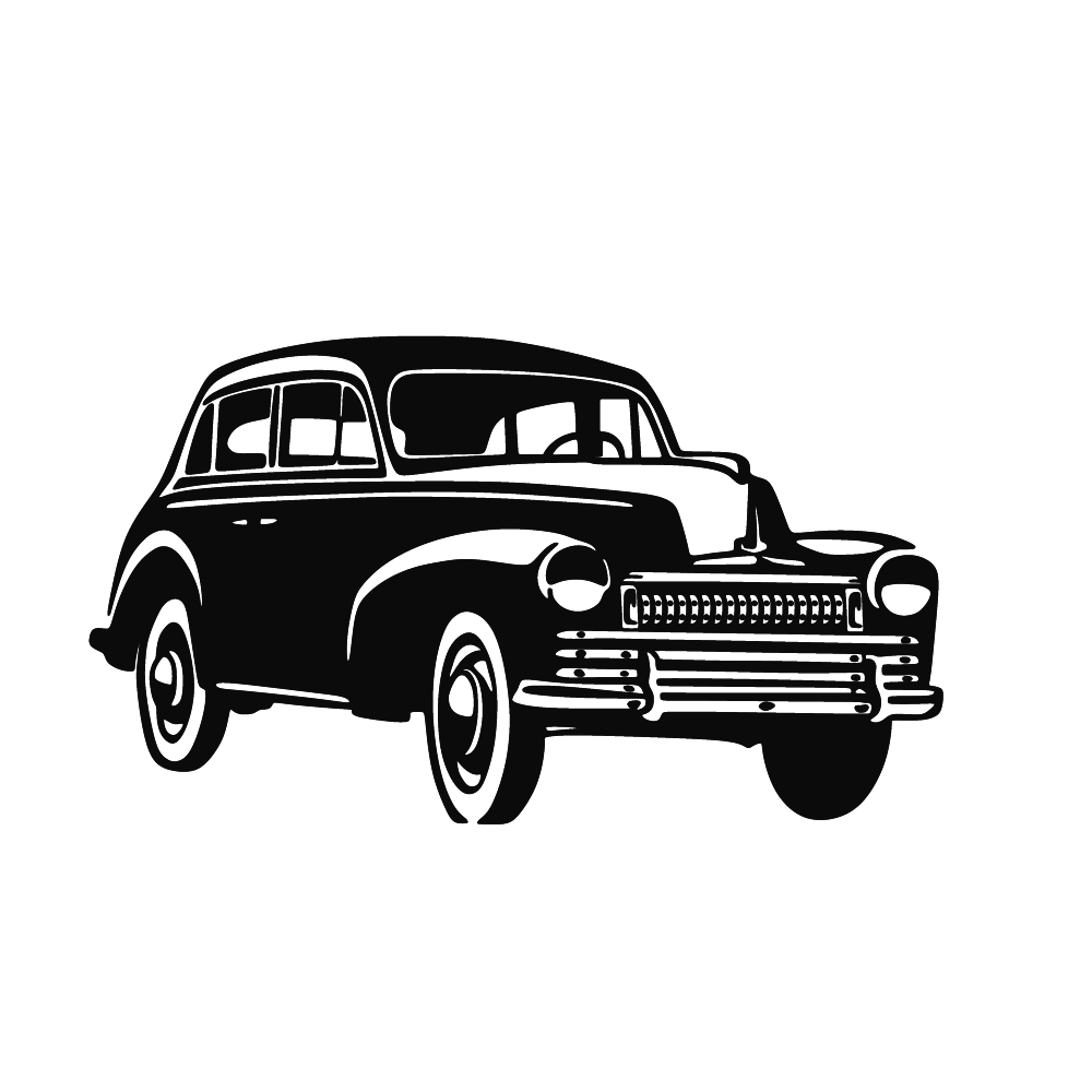 Vintage car Silhouette.