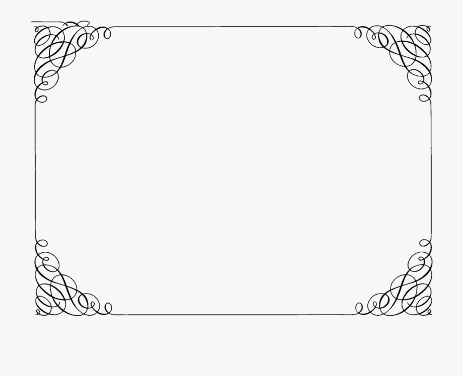 Pin Fancy Border Frame Clipart.