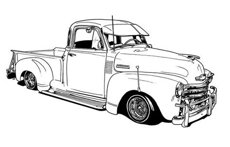 vintage truck color book pages Lowrider Coloring Book by.