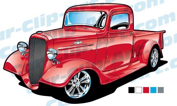 1935 Chevy Truck Vector Art.