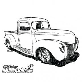Monster Truck Silhouette Clipart.