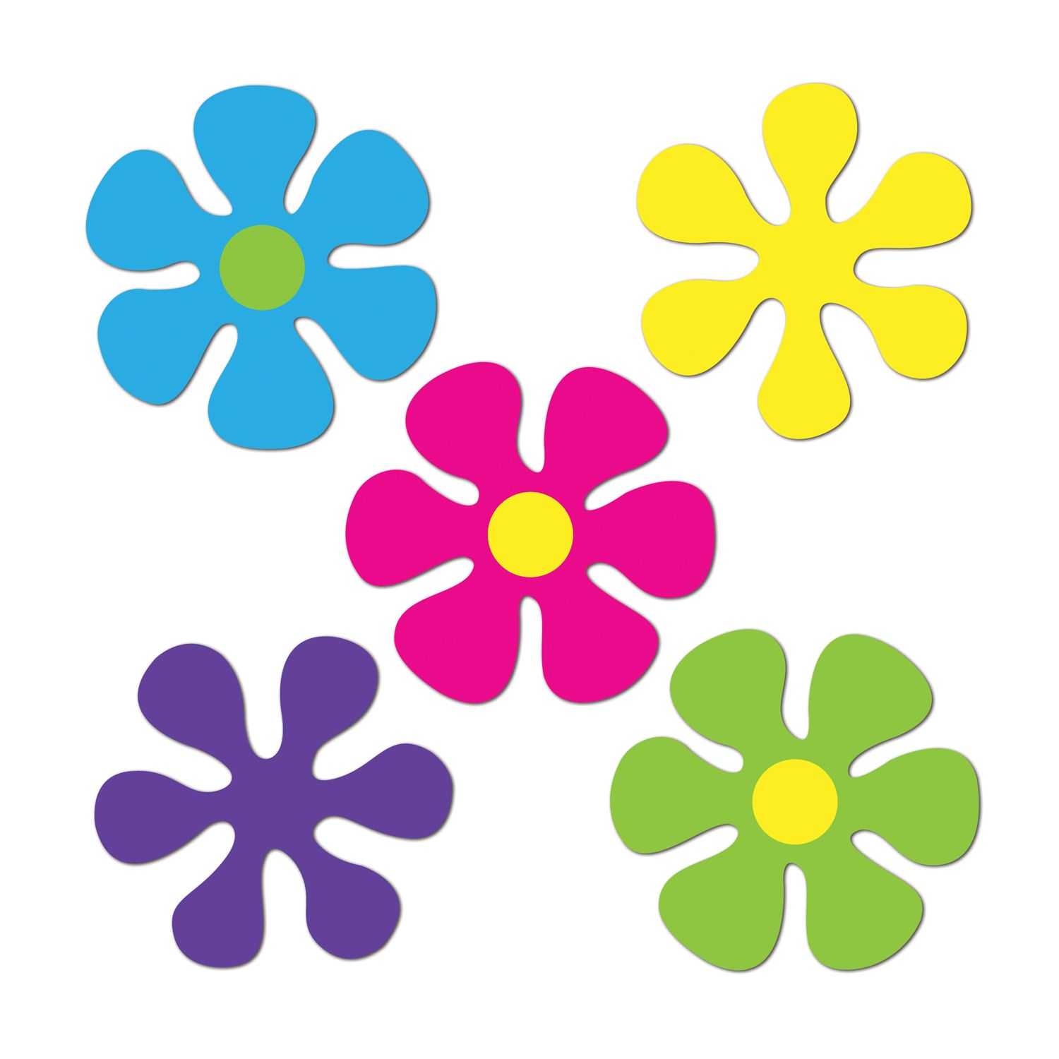 Mini Retro Flower Cutouts (Pack of 240).