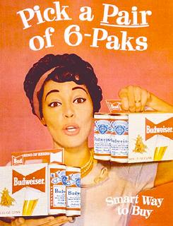 African American Budweiser advertisements c.1960\'s.