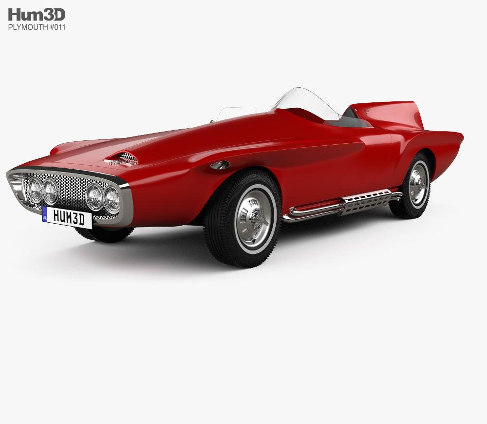 Plymouth XNR 1960 3D model.