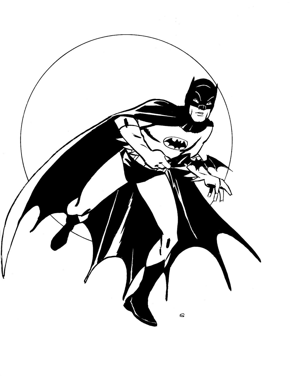 Adam West Batman Coloring Pages.