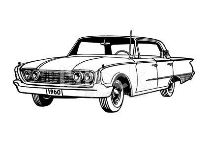 1960 Car Clipart Image.