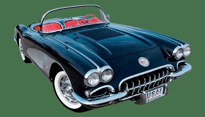 Vintage Corvette transparent PNG.