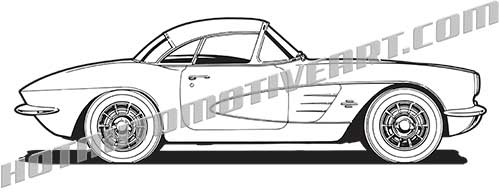 1960 American Sports Car side view.