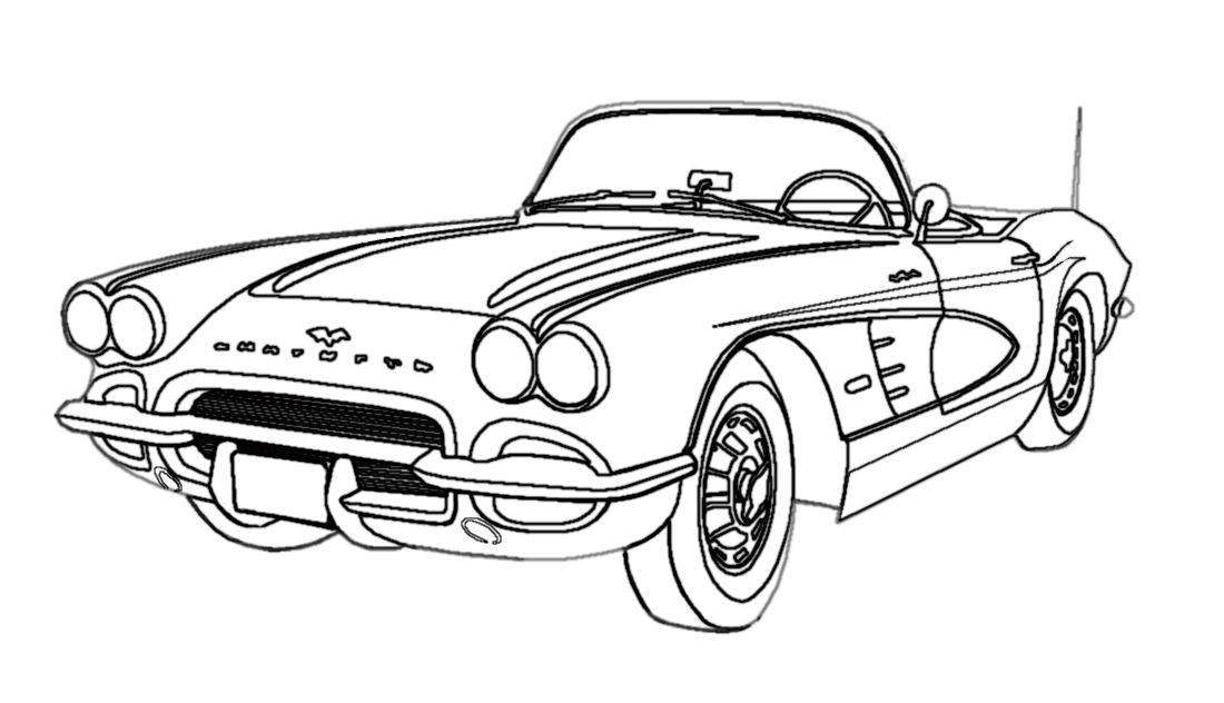 Cool Black and White line art.
