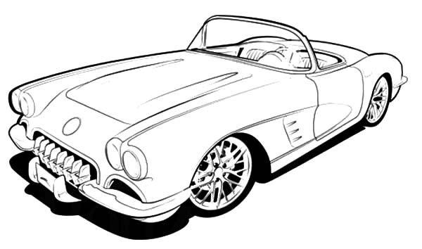 Corvette Cars, : RC 1960 Corvette Cars Coloring Pages.