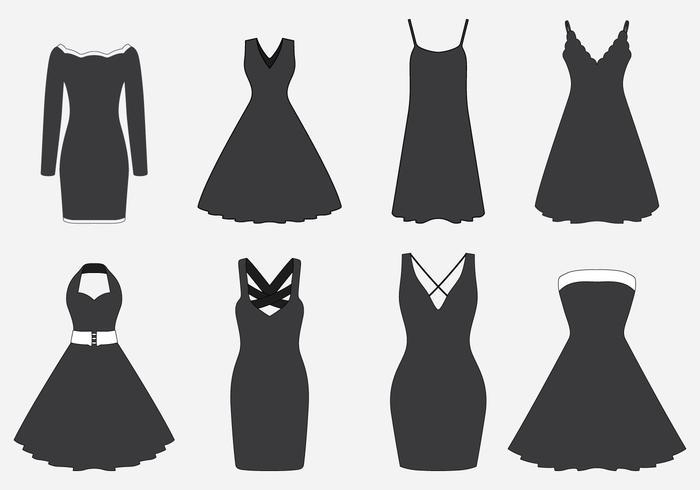 Black Dresses Set.
