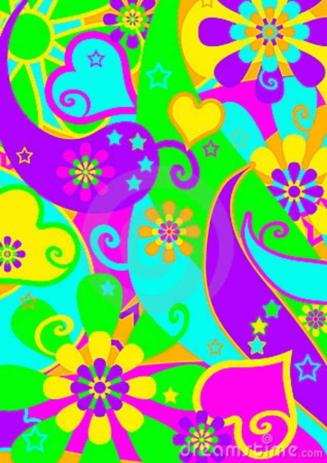 Hippie Flower Power Clip Art.