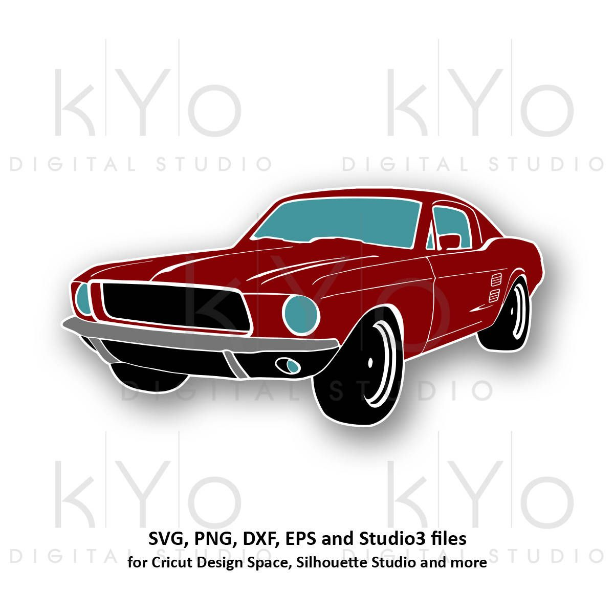 Classic Ford Mustang svg png Mustang car silhouette svg.