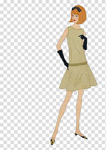 Dress 1960s Waist Designer Pattern, Women transparent.