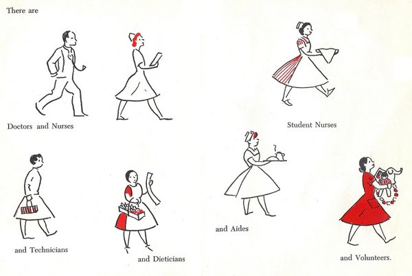 Jennuine by Rook No. 17*: Free Clipart: 1960s Nurses.