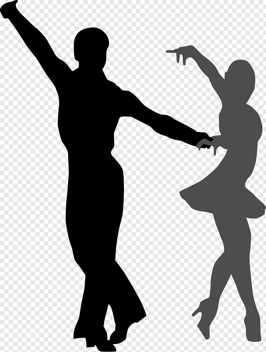 Silhouette of man and woman dancing, Ballroom dance, Dancing.