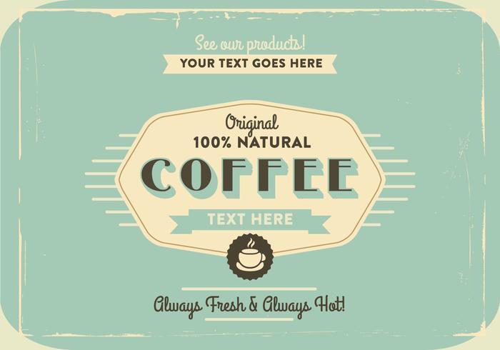 1960s Coffee Logo Vector.