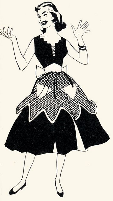 1960s woman with apron.