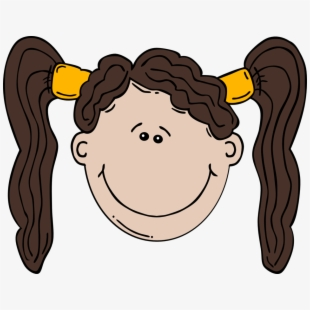 Ponytail Clipart Girl Face.