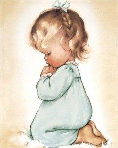 1960\'s+children+wallart+little+girl+praying.