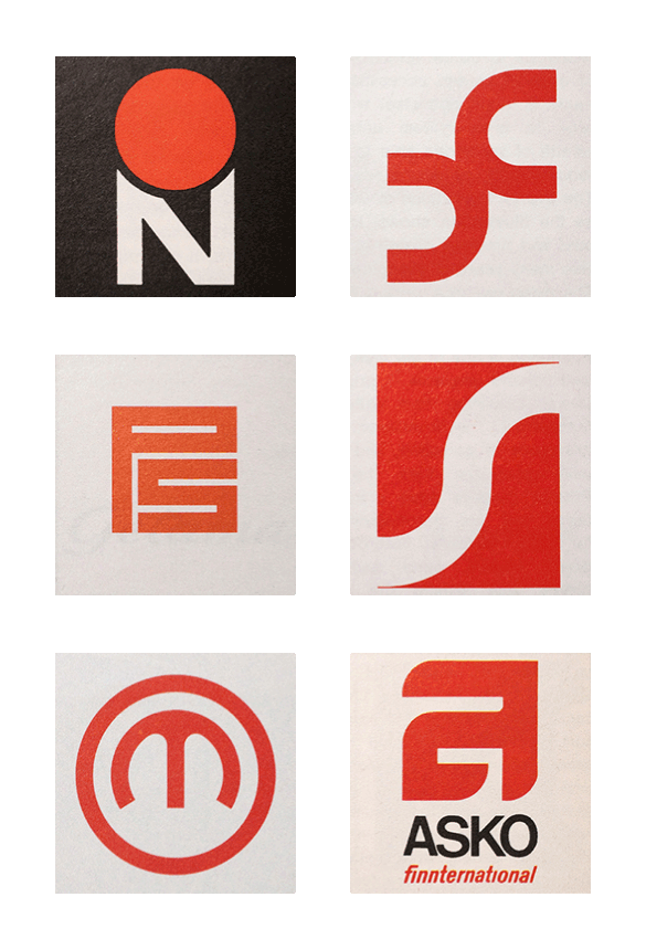 Scandinavian Logos from the 1960s and 70s.