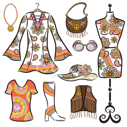 Vintage 1960\'s Clothing Set Stock Vector.