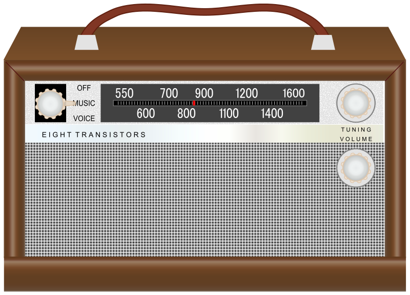 Old Fashioned Radio Clipart.