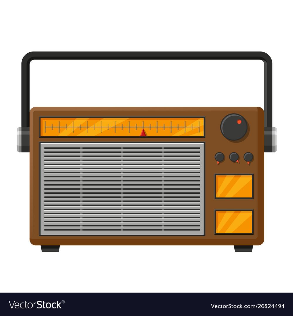 Retro radio realistic isolated.
