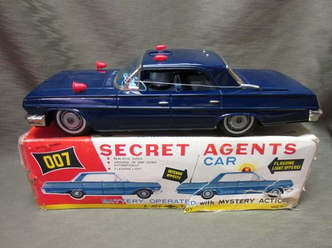 Details about Vintage 1960\'s Battery Op 007 Unmarked Secret.