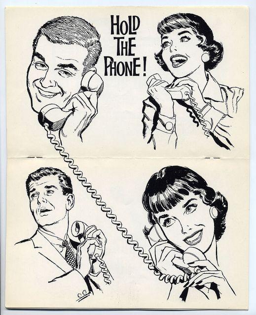 1960s phone clip art.